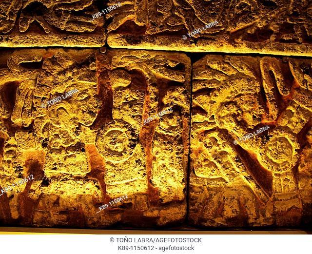 Eagle warriors relief. Museo Nacional de Antropologia. Ciudad de Mexico