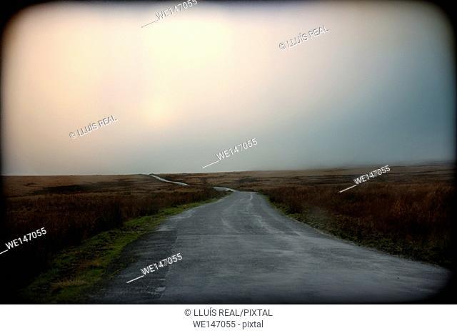 Carretera, landscape, atmosfera, Road, landscape, atmosphere