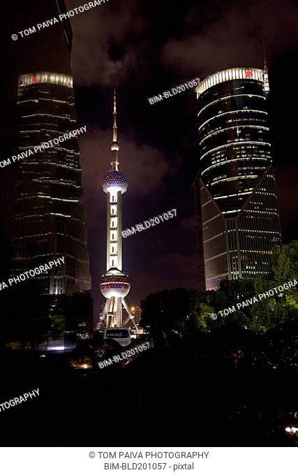 Shanghai cityscape at night