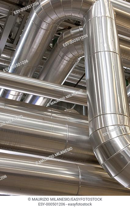 Pipe lines in a factory