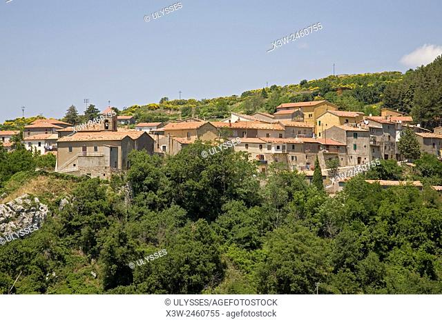 europe, italy, tuscany, stribugliano village