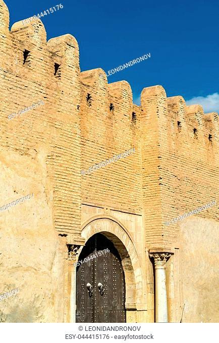 Medieval walls of Medina in Kairouan - Tunisia, North Africa