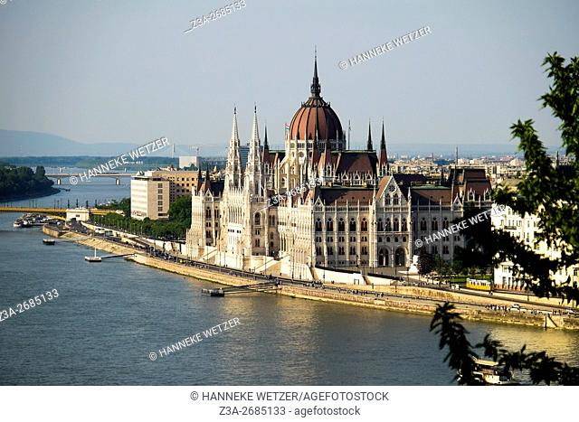 View at the Parliament building in Budapest, Hungary