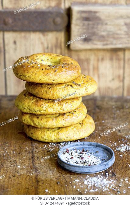 Healthy spiced bagels (low GL)