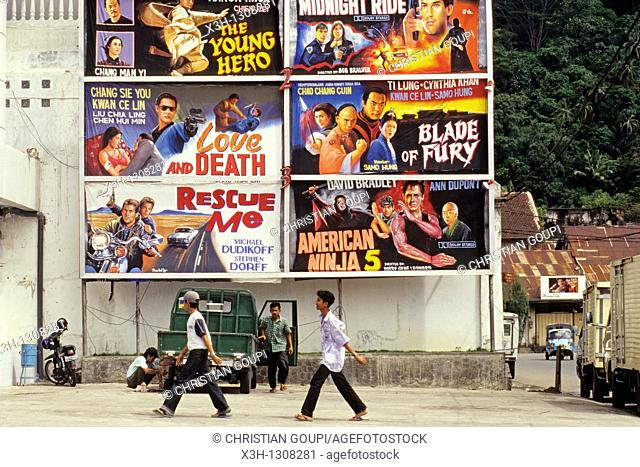 film posters, Padang, Sumatra island, Republic of Indonesia, Southeast Asia and Oceania