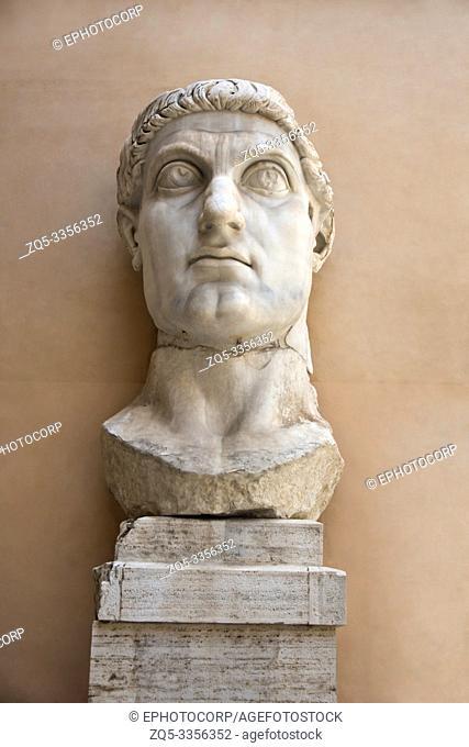 Statue of Roman Emperor Constantine the Great, Capitoline Museum, Rome