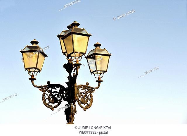Taormina, Sicily, Street Light