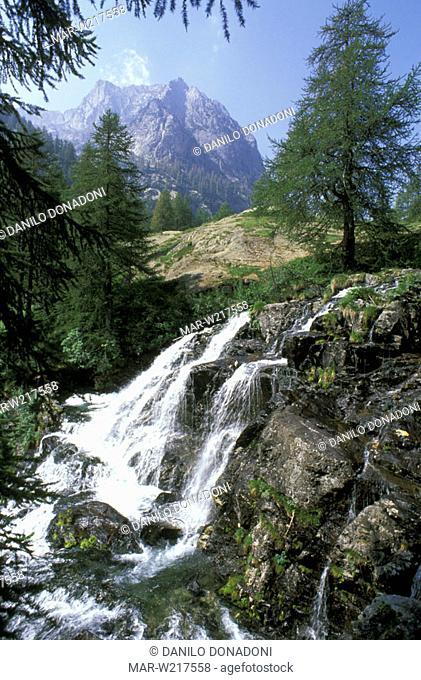 gesso stream near valasco, alpi marittime park, italy