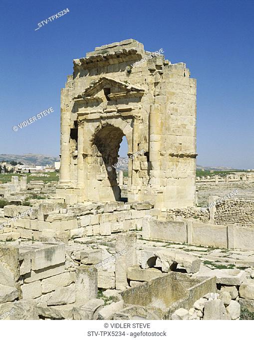 Arch, Holiday, Landmark, Maktar, Tourism, Trajan's, Travel, Tunisia, Africa, Vacation