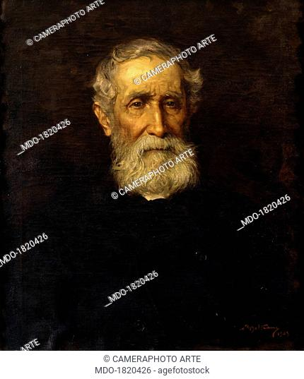 Portrait of The Father Giambattista Beltrame, by Achille Beltrame, 1903, 20th Century, oil on canvas. Italy, Veneto, Vicenza, Civic Museum