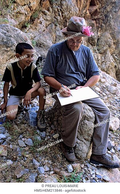 Morocco, High Atlas, Philippe Danton Botanist