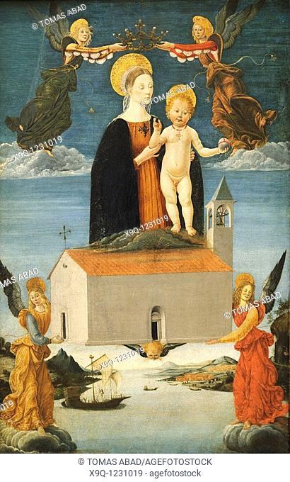 The Translation of the Holy House of Loreto, ca  1510, by Saturnino Gatti Italian, L'Aquila 1463-1518 L'Aquila, Tempera and gold on wood
