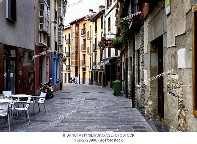 traditional architecture of old town. Vitoria-Gasteiz, Álava, Basque Country (Euskadi), Spain, Europe