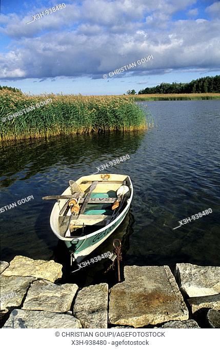 barque,Orissaare,ile de Saaremaa,region de Saare,Estonie,pays balte,europe du nord