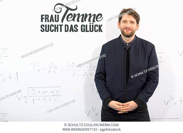 "Actors promoting the new Series """"Frau Temme sucht das Glueck"""" at Side Hotel Featuring: Sebastian Schwarz Where: Hamburg"