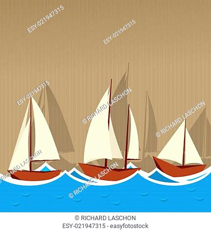 Sailing ships background