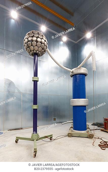 Faraday cage. HIGH VOLTAGE LABORATORY. Test bench to conduct dielectric tests for High Voltage products - up to 362 kV. Development and Certification...