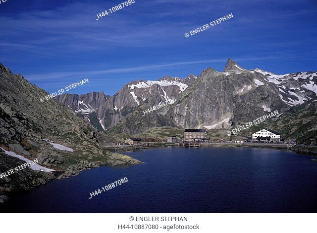 Switzerland, Europe, Great Saint Bernhard, Pass, scenery, lake, Valais, mountain, mountains, Alps