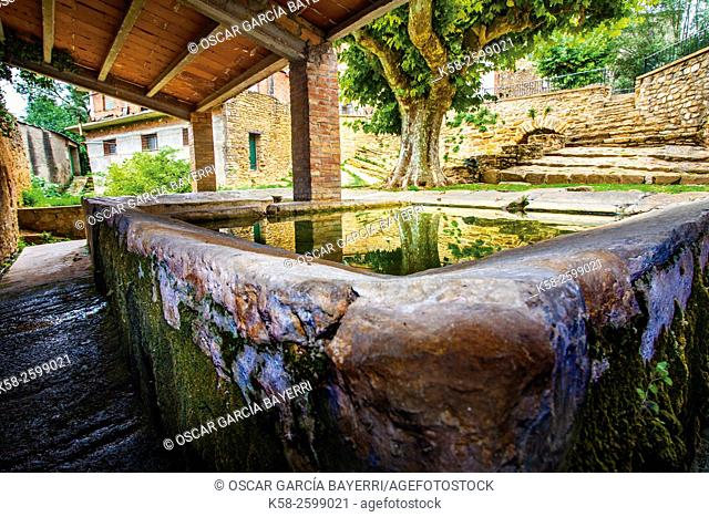 Former public washing place, Àger, Montsec mountain range, pre-Pyrenees mountains, Lleida province, Catalonia, Spain