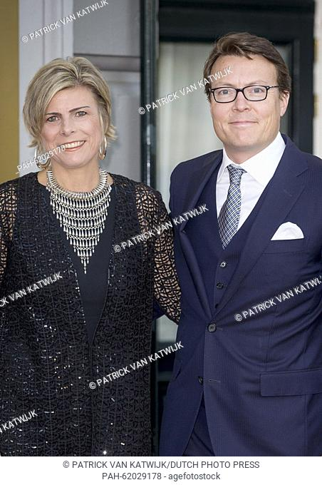 Prince Constantijn and Princess Laurentien of The Netherlands attend the closure event of the celebration of 200 years kingdom of the Netherlands at Carre at...