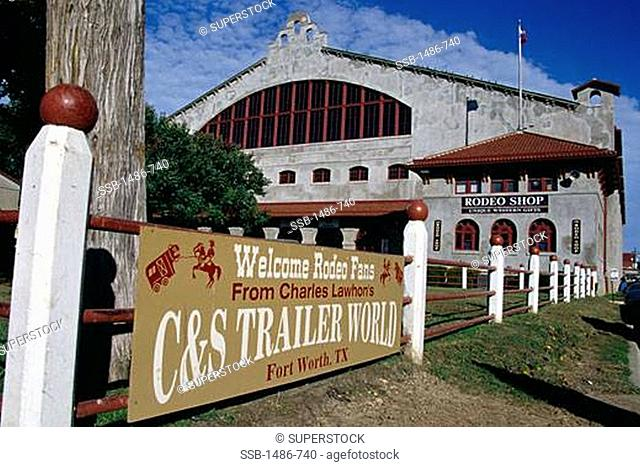 Stadium in a city, Cowtown Coliseum, Fort Worth, Texas, USA