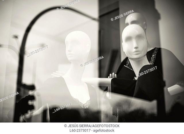 Mannequins, Shop in La Coruña, Galicia. Spain