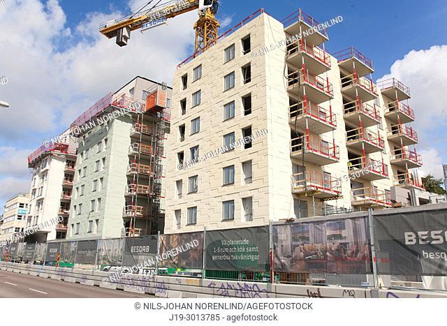 Building construction site, Stockholm, Sweden