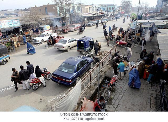 Main street in Kunduz city