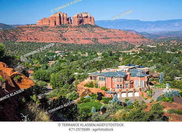 A large mansion, Comescu House near Sedona, Arizona, USA