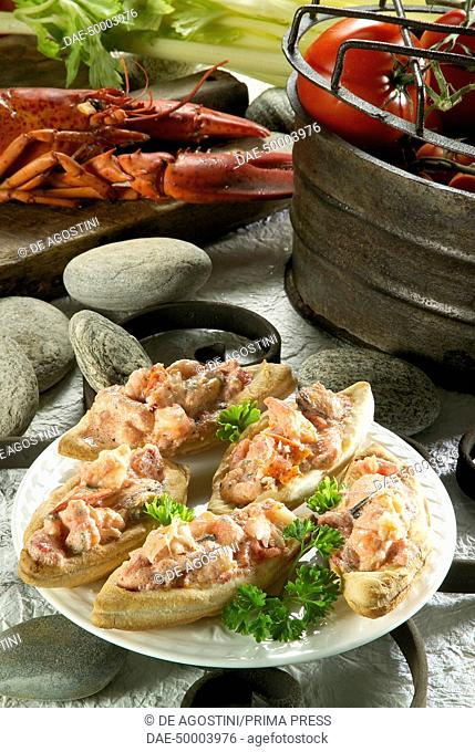Seafood pastry boats