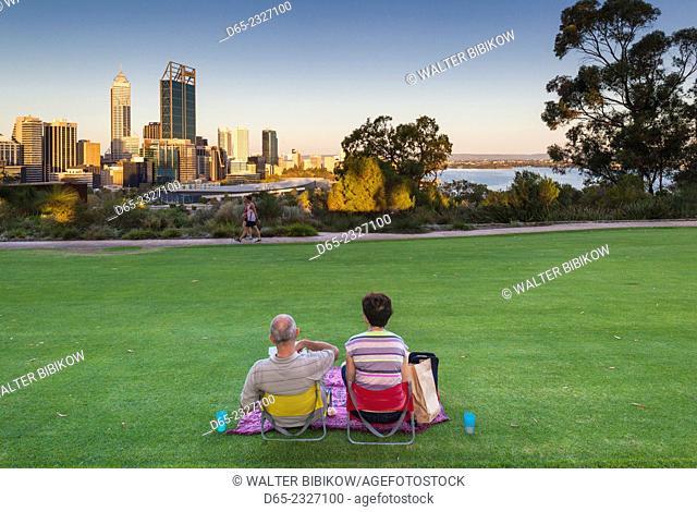 Australia, Western Australia, Perth, people in Kings Park, late afternoon, NR