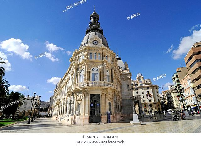 Town Hall, Town Hall Square, Cartagena, Murcia Region, Spain, Europe