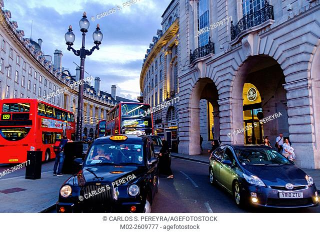 Piccadilly Circus is a road junction and public space of London's West End in the City of Westminster. London, England