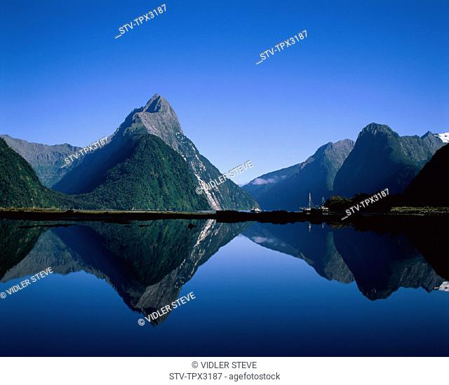 Firodland, Holiday, Landmark, Milford, Milford sound, Mitre peak, National, New zealand, Park, South island, Tourism, Travel, Va