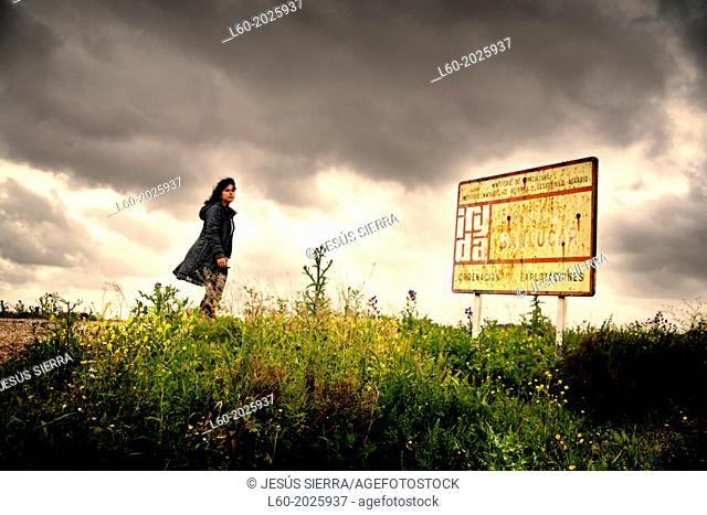 Girl in Sanlucar de Barrameda, Cadiz province, Andalusia, Spain