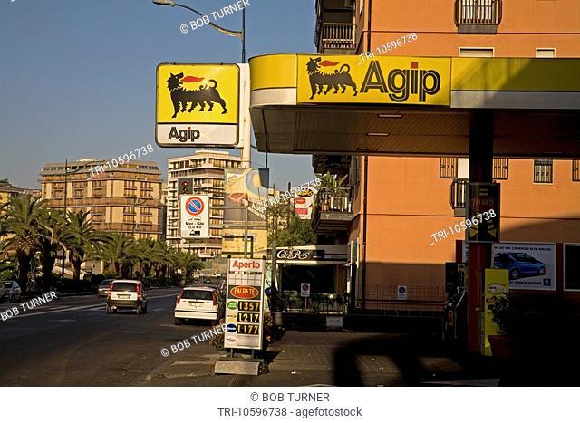 Petrol Station Catania Sicily Italy