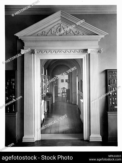 Exterior Doorway from One West Broad Street,. Date: 1800-1805; Geography: Made in Savannah, Georgia, United States; Culture: American; Medium: Wood; Dimensions:...