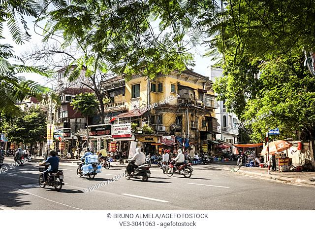 A day in Ba Dinh District, Hanoi (Vietnam)