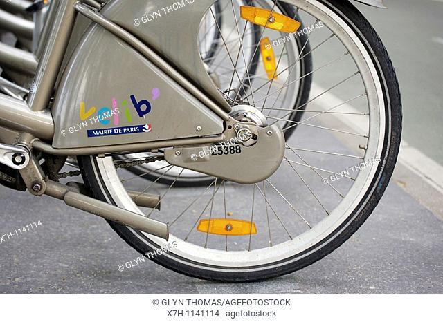 Vélib bikes, Paris, France