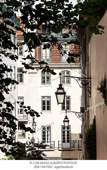 chiado town in lisbon. portugal