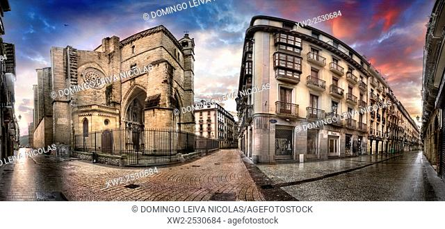 Church of San Vicente. Old City, San Sebastian, Donostia, Guipuzcoa, Baque Country, spain