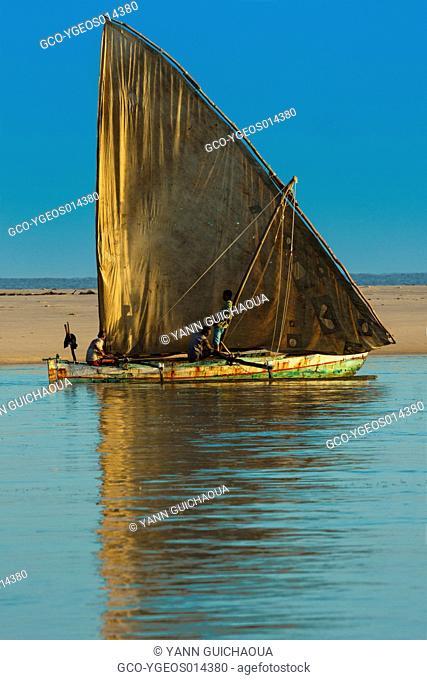 Traditional sailing boat, Antsanitia, Madagascar