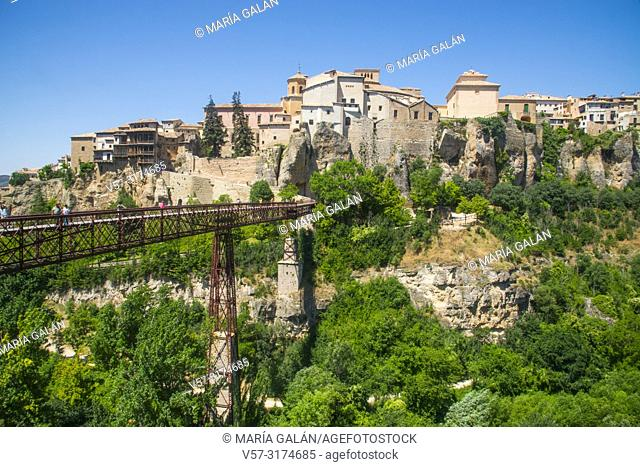 Overview and San Pablo bridge. Cuenca, Spain