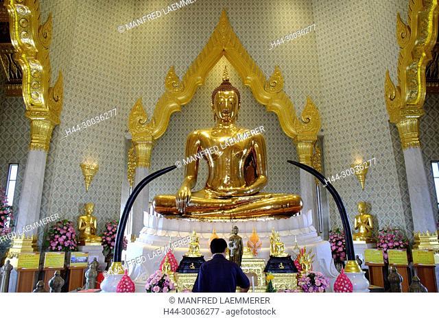 Asia, Thailand, Bangkok, Wat Traimit, The Golden Buddha Temple, golden Buddha