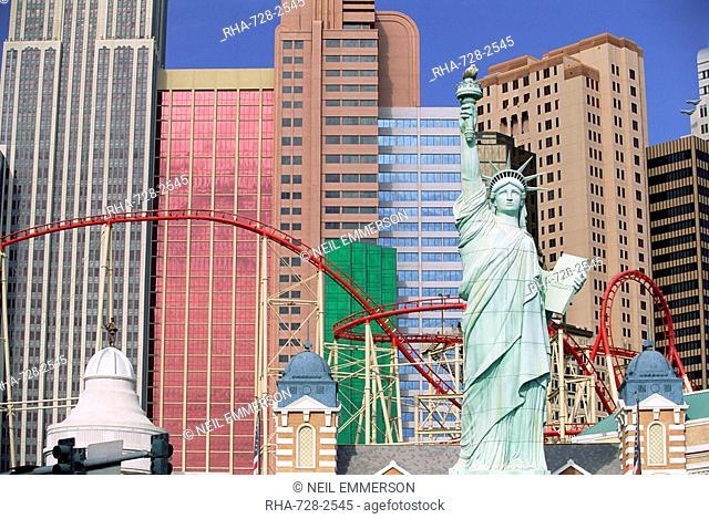 New York New York Hotel and Casino, Las Vegas, Nevada, USA, North America