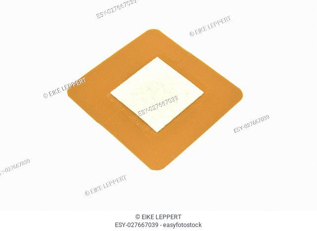 plaster in square shape isolated on white background