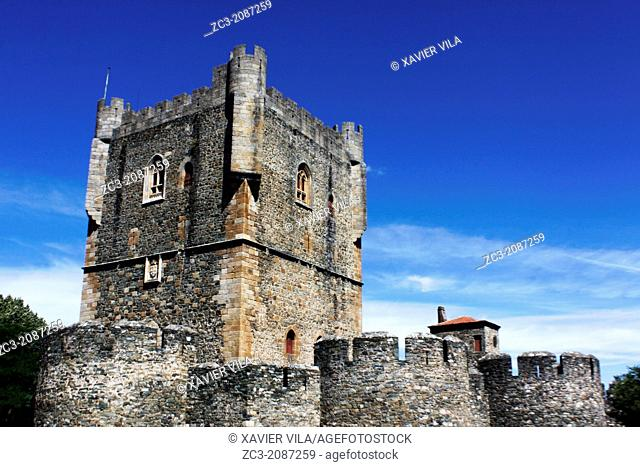 Tower, Donjon of the Castle of Braganca, Portugal