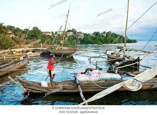 harbour of Hell-Ville Andoany, Nosy Be island, Republic of Madagascar, Indian Ocean