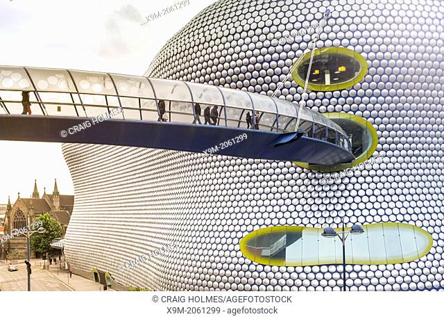 Selfridges, and the bridge to the Bullring Shopping Centre, Birmingham, England