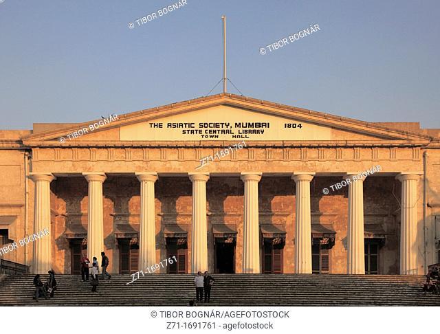 India, Maharashtra, Mumbai, Asiatic Society, Central Library, Town Hall